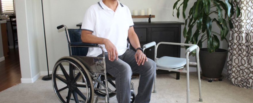 How To Transfer From Wheelchair To Commode