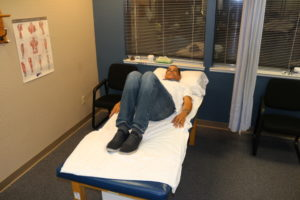 hooklying for bed mobility